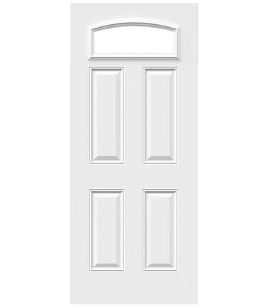 Porte 4 panneaux acier cambrée