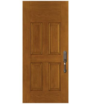 Porte 4 panneaux fibre de verre