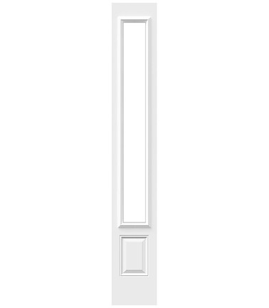 Porte 2 panneaux haut uni sidelite