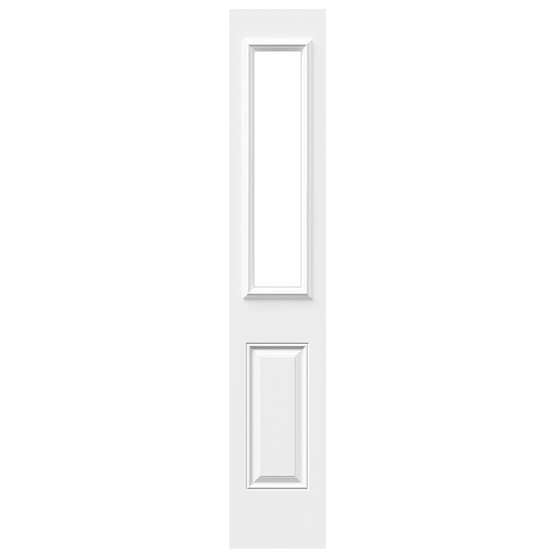 Porte 6 panneaux acier sidelite 8 x 36 po