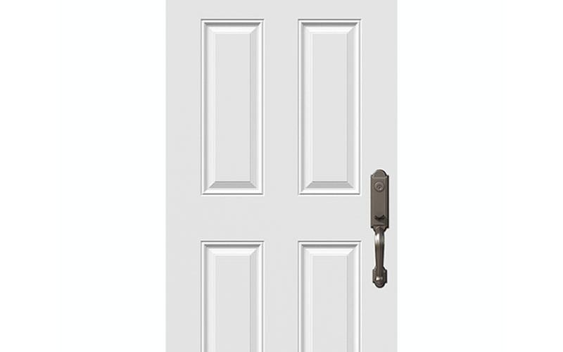 Porte 6 panneaux acier