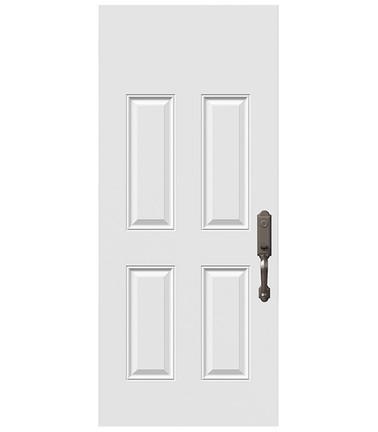 Porte 4 panneaux acier