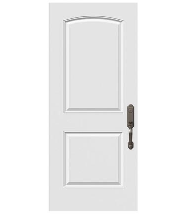 Porte 2 panneaux à lambris