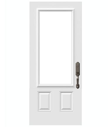 Porte 2 panneaux haut uni 22 x 48 po