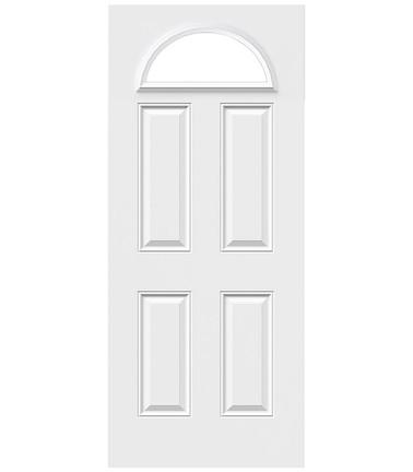 Porte 4 panneaux acier demi-lune