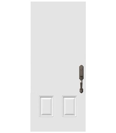 Porte 2 panneaux haut uni