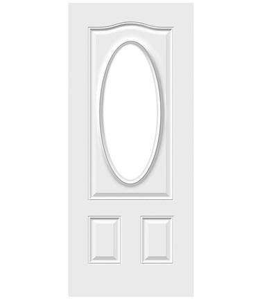 Porte 3 panneaux tête gendarme oval