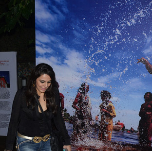 Pooja Bedi, bollywood actress and columist at the inaugural ceremony of NM Photo Festival.
