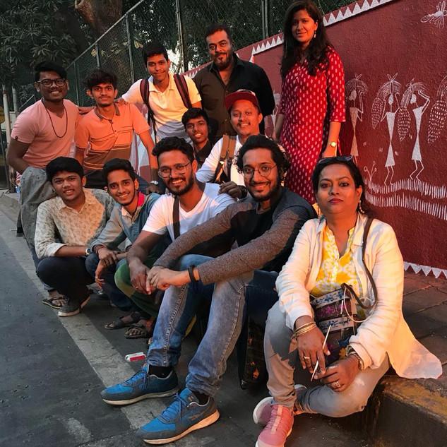 Artist team behind Walkeshwar wall project