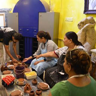 Terracotta workshop held at ArtDesh.