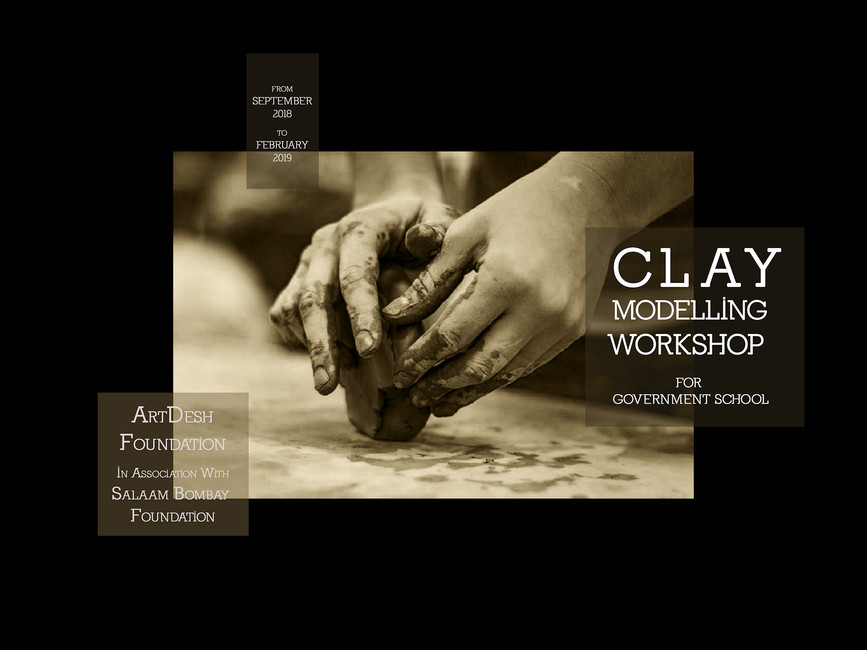 Clay Modelling Workshop for Government school - In association with Salaam Bombay