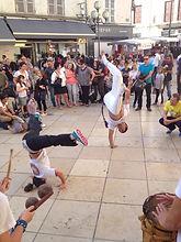 Démo de capoeira à Villefranche