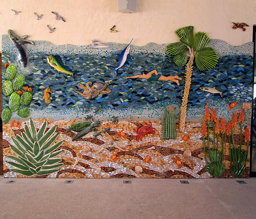 Chileno Bay Collaboration mural