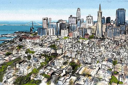 SF Skyline Postcard