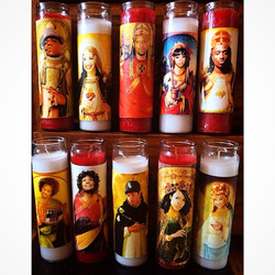 Saintly candles