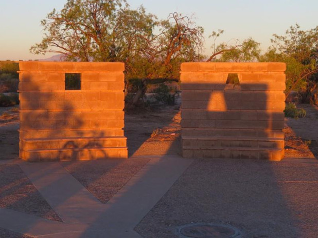 A Ceremonial Structure on Tucsons Rillito River Trail