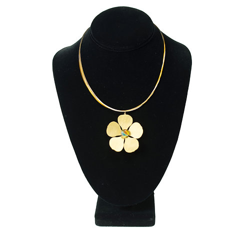 Lei Pendant on Two-Tone Necklace