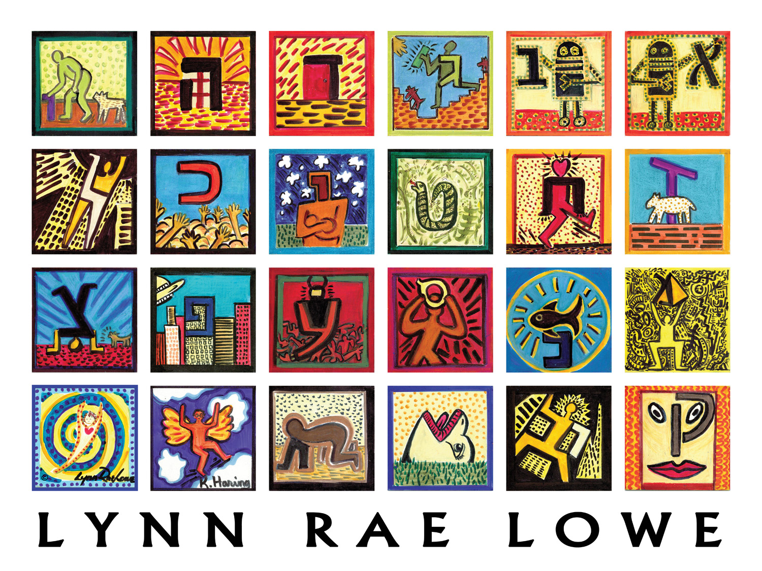 HARING LIVING LETTERS Print 24x18