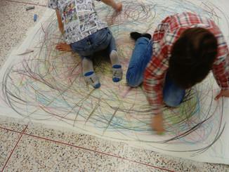 Facilitating at The Big Draw at Participate ArtSpace