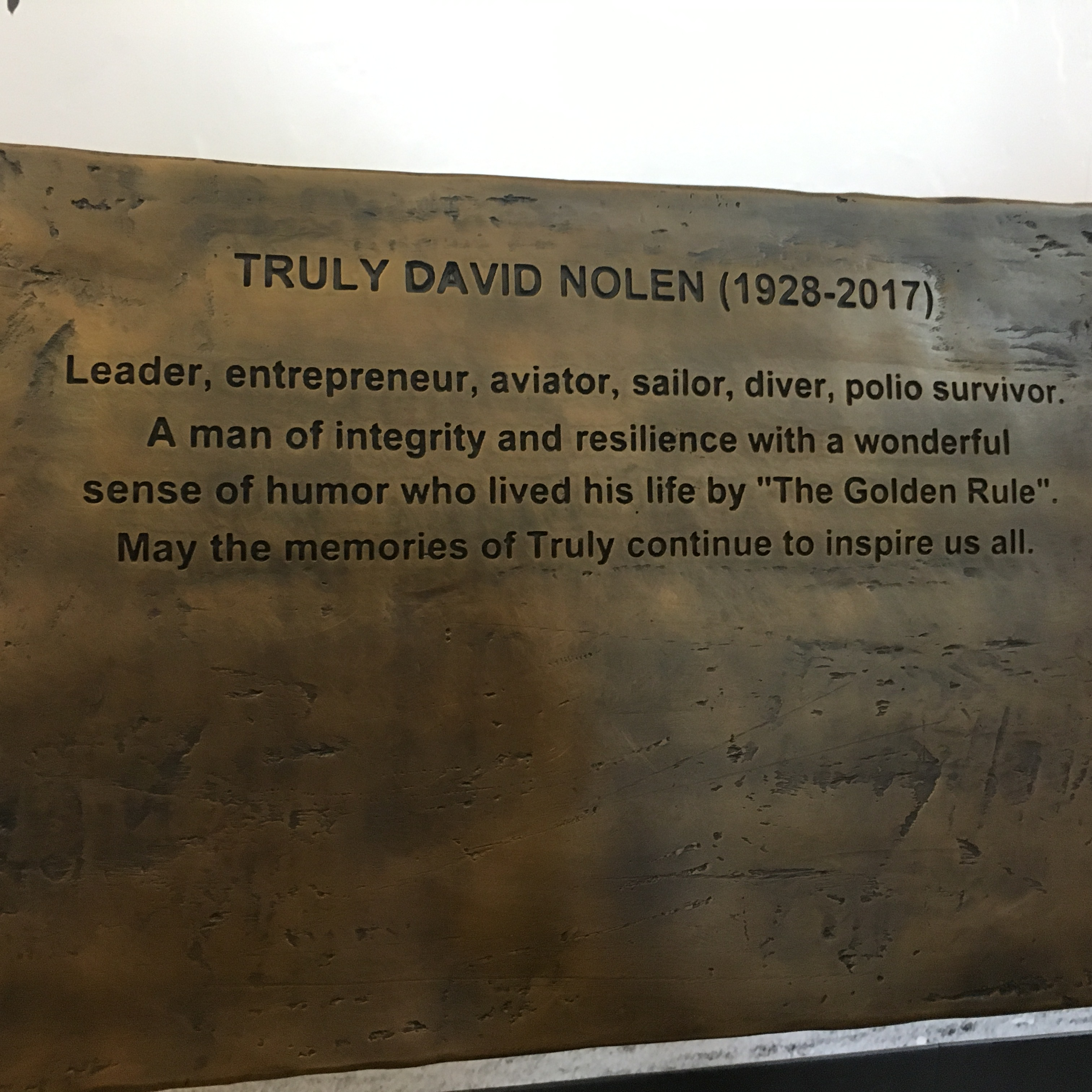 Truly Nolen Text on Bench