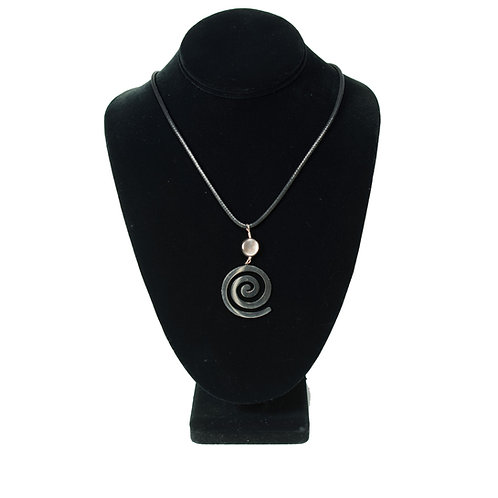 Spiral Pendant with Moonstone