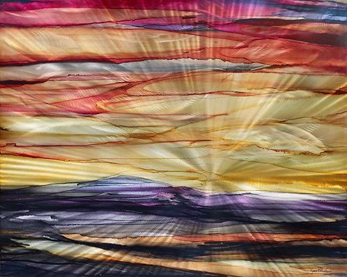 "Lights Path 30"" x 24"" Metal Print"