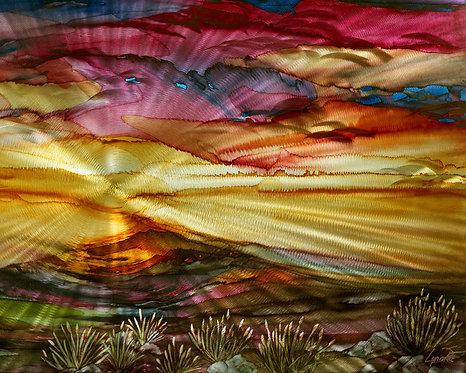 Naranja Mountain Majesty 10 x 8 Metal Print