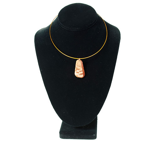 Pendant on Wire Necklace