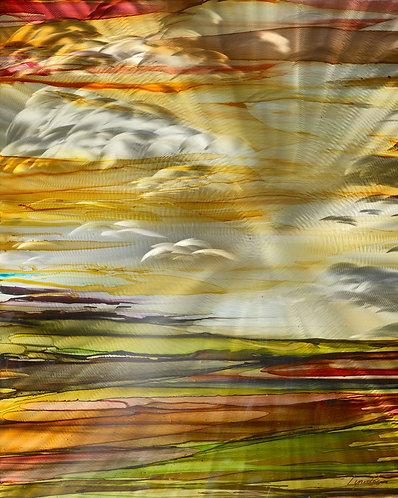 Arizona Sunlit Clouds 24 x 30 Metal Print