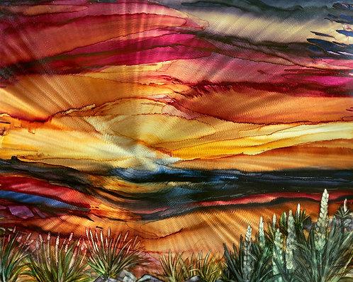 Sunrise Horizon 10 x 8 Metal Print