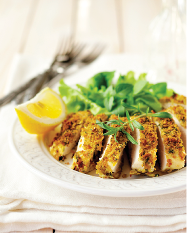oven baked crumbed chicken