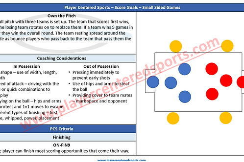 PCS Small Sided Games (Score Goals) Booklet