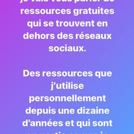 Les ressources gratuites !