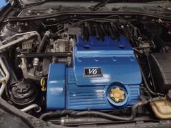 MG ZTT Engine bay Trophy blue