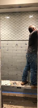 Guest shower tile