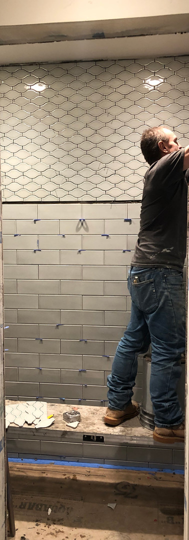 Guest shower tile