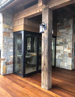 Deck entry corner door