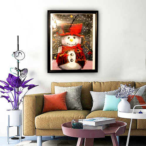 Christmas Snowman - Diamond Painting [Finished Project]