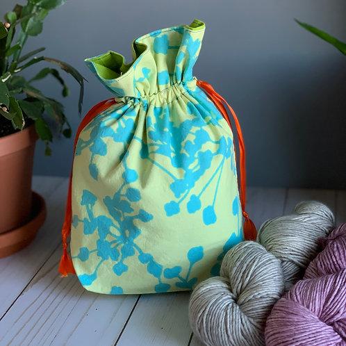 Cotton Drawstring Bag -Turquoise