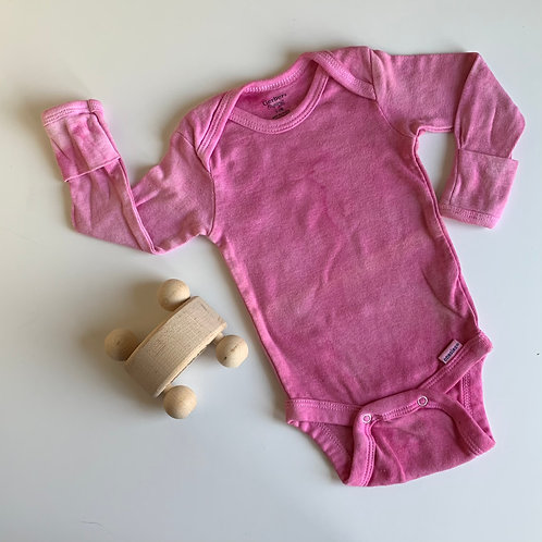 Natural Hand Dyed Onsie -Cochineal