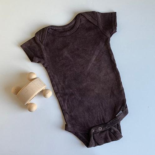 Natural Hand Dyed Short Sleeve Onsie - Logwood