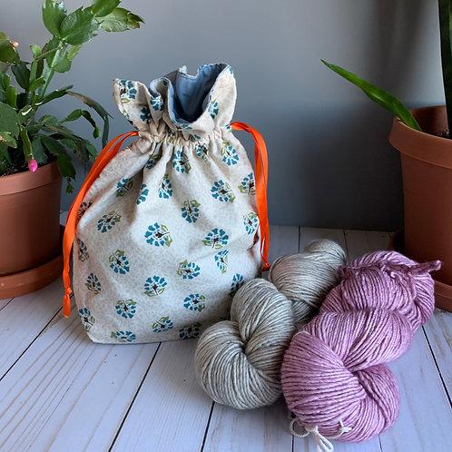Cotton Drawstring Bag - Tan