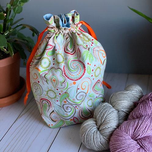 Cotton Drawstring Bag - Orange