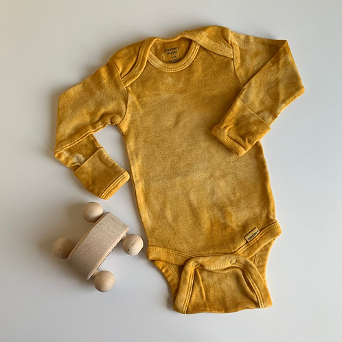 Natural Hand Dyed Onsie - Marigold