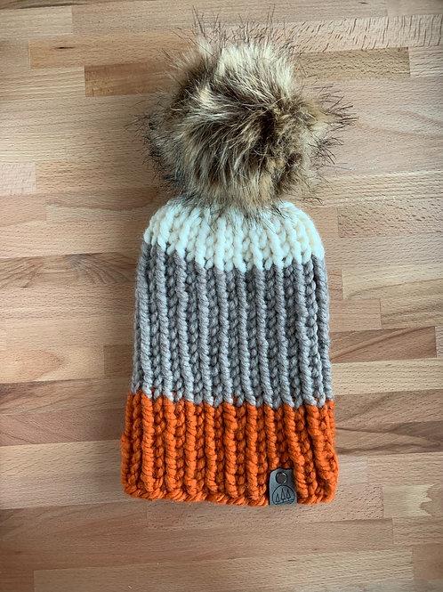 Nokhu Beanie -Autumn Stripe