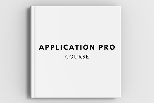 Application Pro Course Late Registration