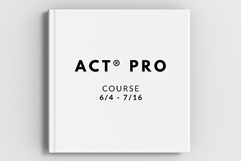 ACT® Pro Late Course Registration