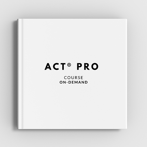 ACT® Pro Course On-Demand Access