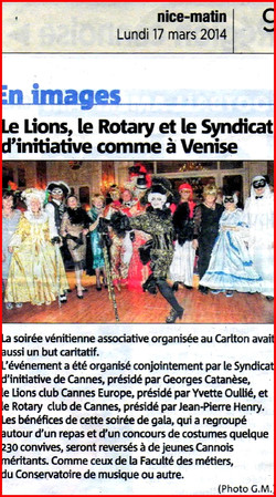 LIONS ET ROTARY CLUB CARLTON CANNES