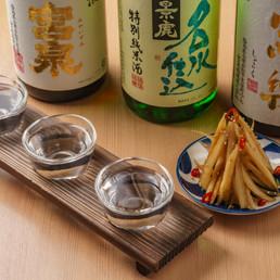 日本酒と酢ごぼう